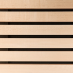 Slatted timber acoustic