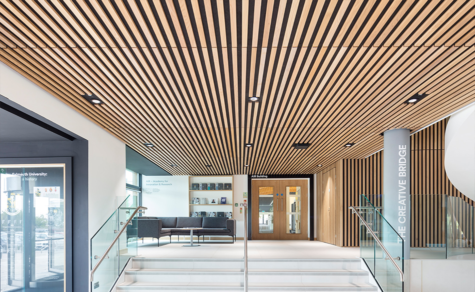 Slatted timber ceilings